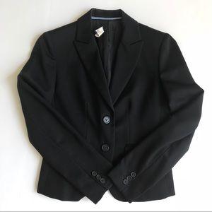 J Crew Black Wool Blazer